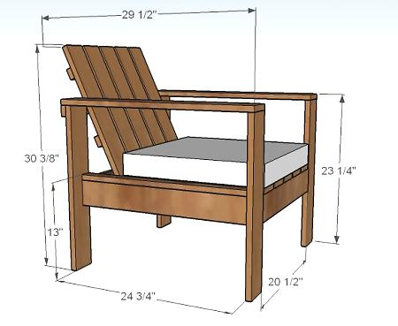 Outdoor Lounge Chair Wood Plans